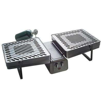 286 sq. in. 2-Burner Propane Gas Grill in Black
