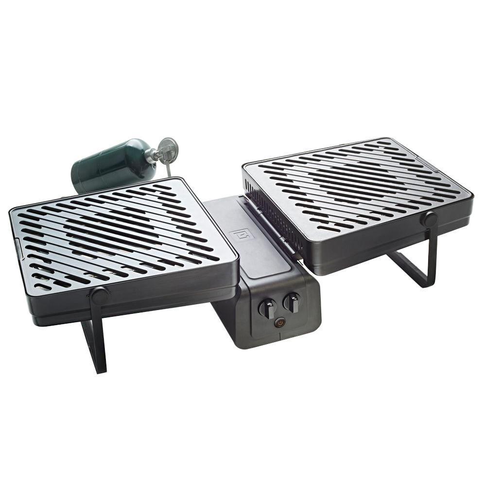 Elevate Grill 286 Sq In 2 Burner Portable Propane Gas Black