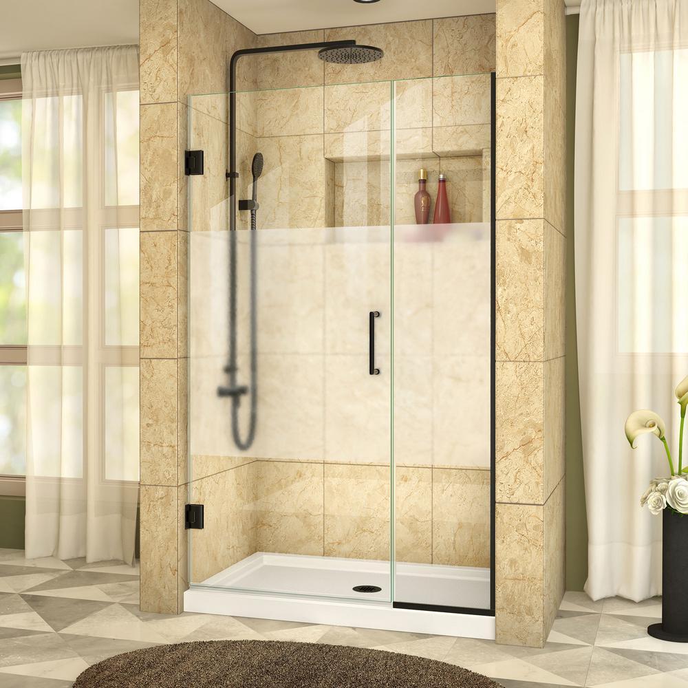 DreamLine Unidoor Plus 44 in. x 72 in. Frameless Hinged Shower Door ...