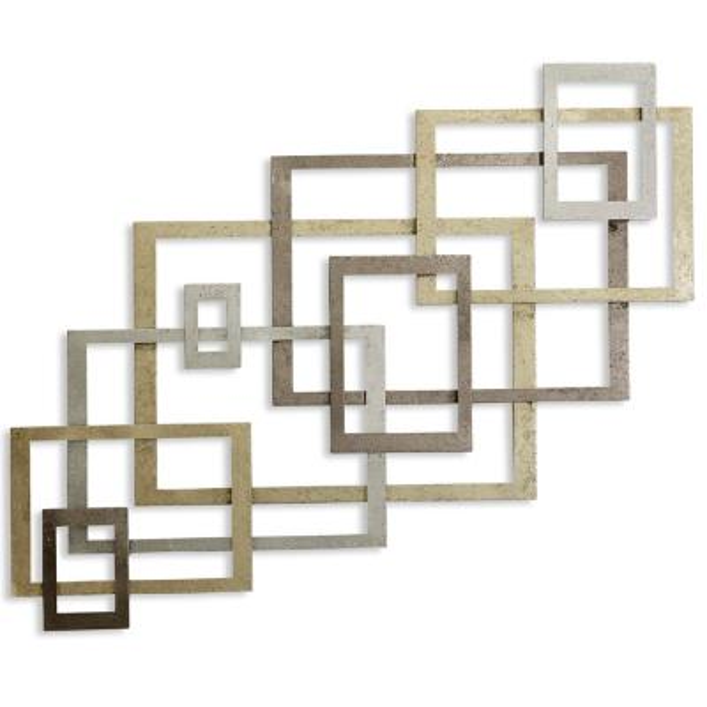 Square Gold Metal Wall Decor