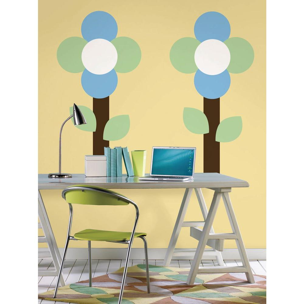 13 in. x 13 in. Oh Pear Green Dot 10-Piece Wall