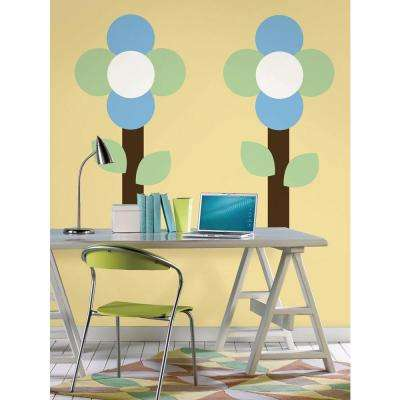 13 in. x 13 in. Oh Pear Green Dot 10-Piece Wall Decal