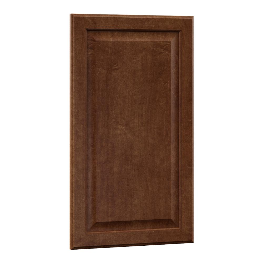 0.625x29.375x18 in. Hampton Wall Cabinet Decorative End Panel in Cognac