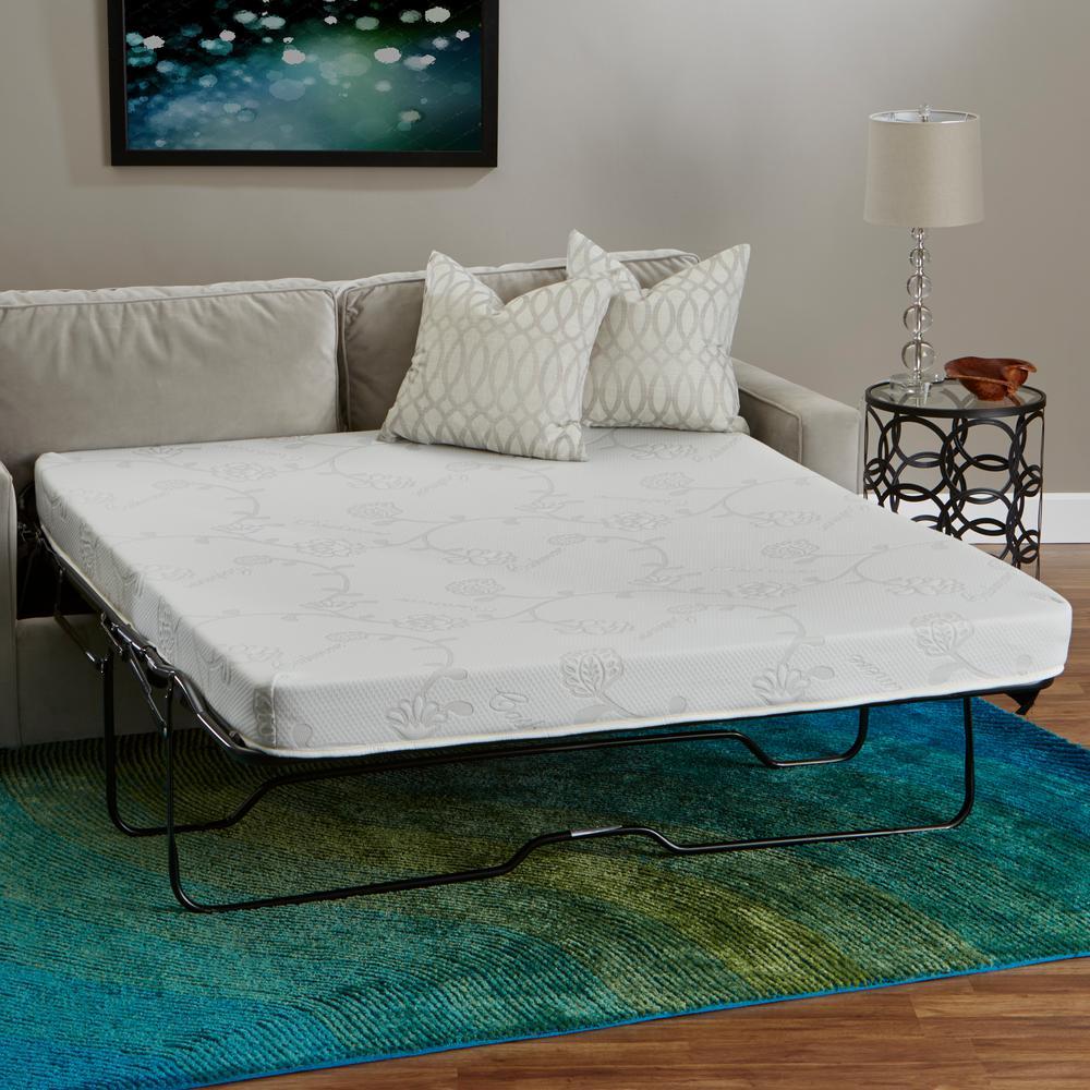 InnerSpace 4.5 in. Queen Wide Memory Foam Sofa Sleeper Mattress