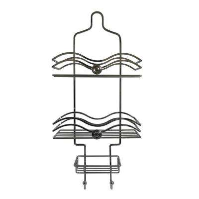 Hanging Shower Caddy with Circle Knobs Accents in Chrome
