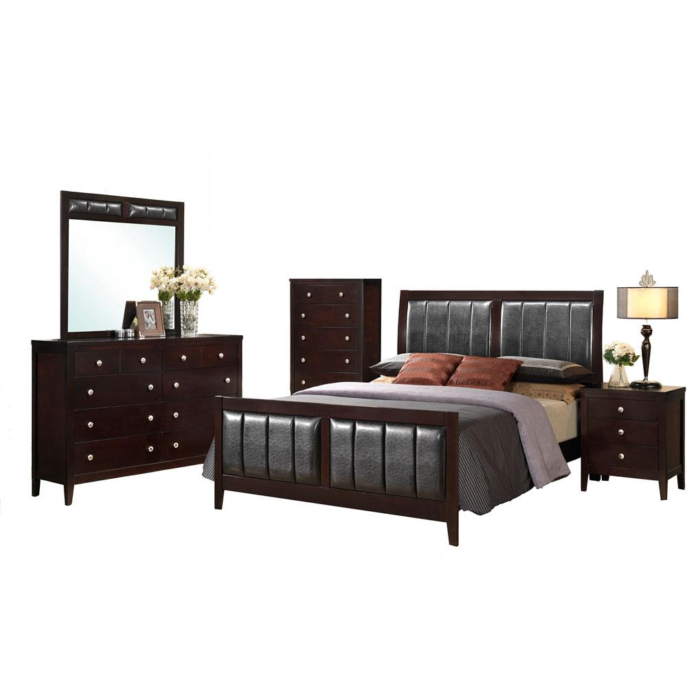 Cambridge Walden 5 Piece Bedroom Suite: King Bed, Dresser, Mirror, Chest