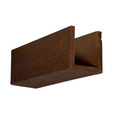 6 in. x 6 in. x 12 in. 3 Sided (U-Beam) Sandstone Pecan Endurathane Faux Wood Ceiling Beam Premium Sample