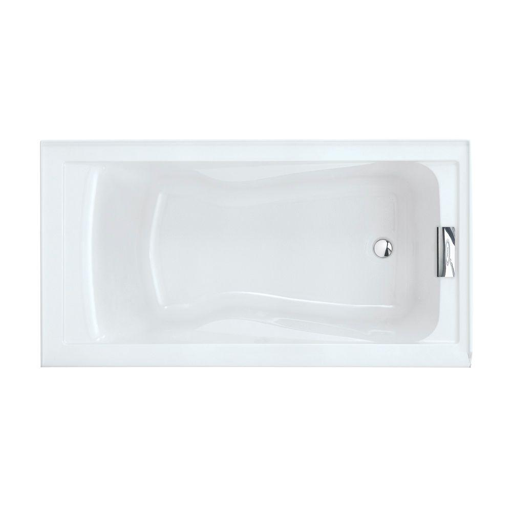 American Standard Evolution 5 Ft Reversible Drain Deep Soaking Tub In Arctic