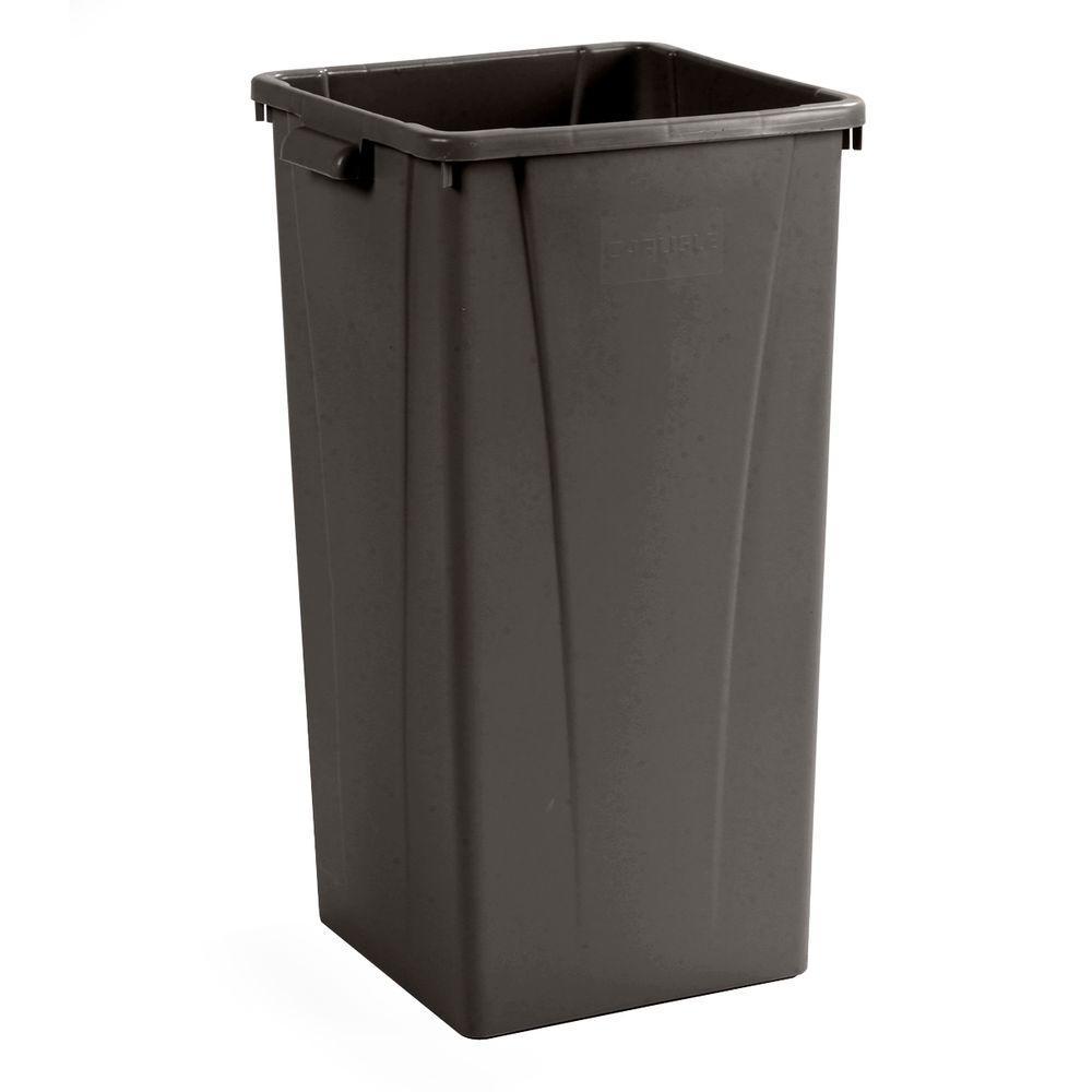 Carlisle Centurian 23 Gal. Brown Square Trash Can (4-Case...