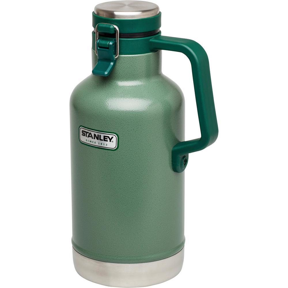 Classic 2-Quart Vacuum Growler, Hammertone Green
