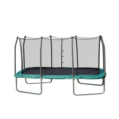Skywalker Trampolines 14 ft. Rectangle Trampoline with Enclosure in Green