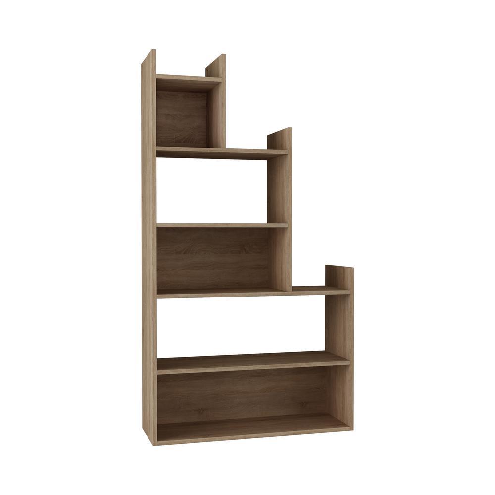 Bartlett Oak Modern Bookcase
