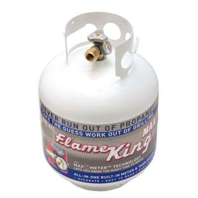 20 lbs. Empty Propane Cylinder with Overflow Protection Device and Built-in Gauge