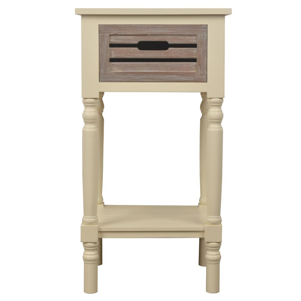 Acme Furniture Babs White Storage End Table-82824