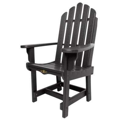 DuraWood Essentials Patio Dining Chair with Arms in Black