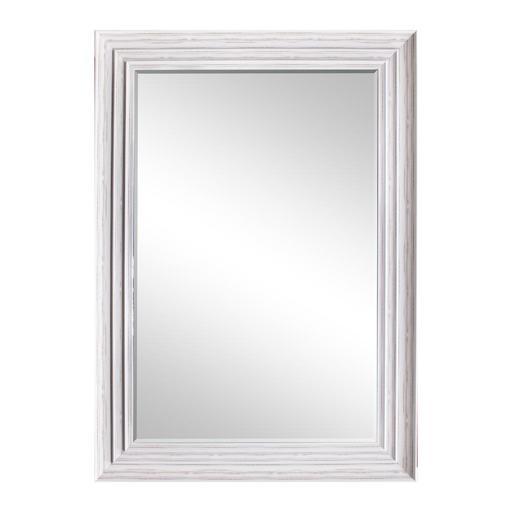 31.5 in. x 43.5 in. White Blanc Decorative Mirror