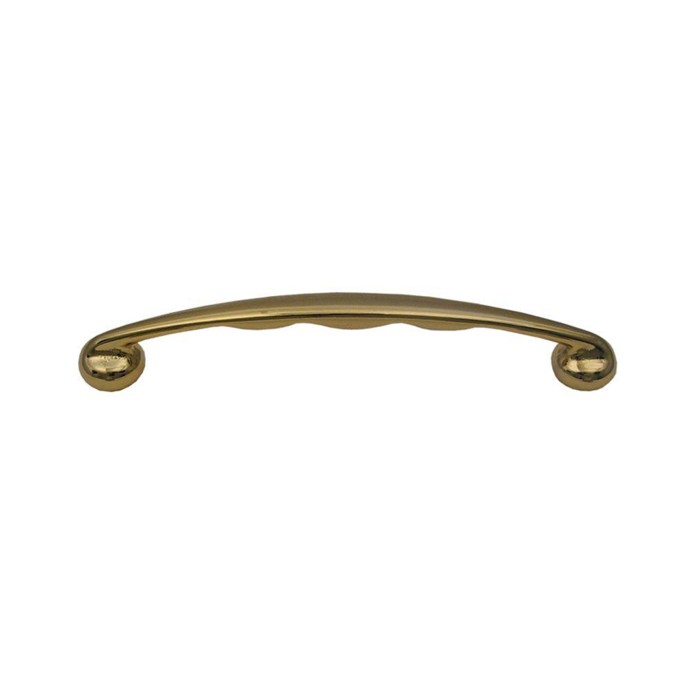 5-1/8 in. Polished Gold Curved Cabinet Hardware Pull