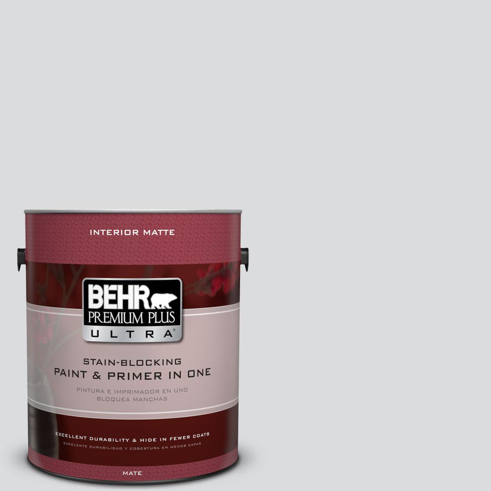 BEHR Premium Plus Ultra 1 gal. #N530-1 Pixel White Matte Interior Paint