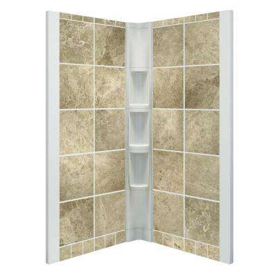 Corner - 4 - Shower Walls & Surrounds - Showers - The Home Depot