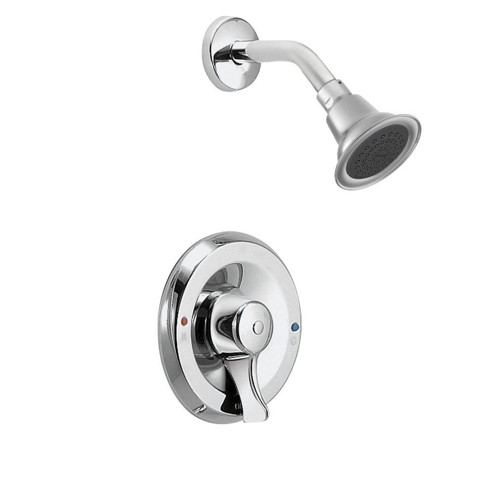 MOEN Posi-Temp Single-Handle 1-Spray Shower Faucet with Valve in ...