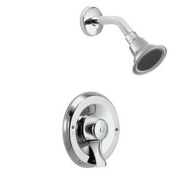 Posi-Temp Single-Handle 1-Spray Shower Faucet with Valve in Chrome