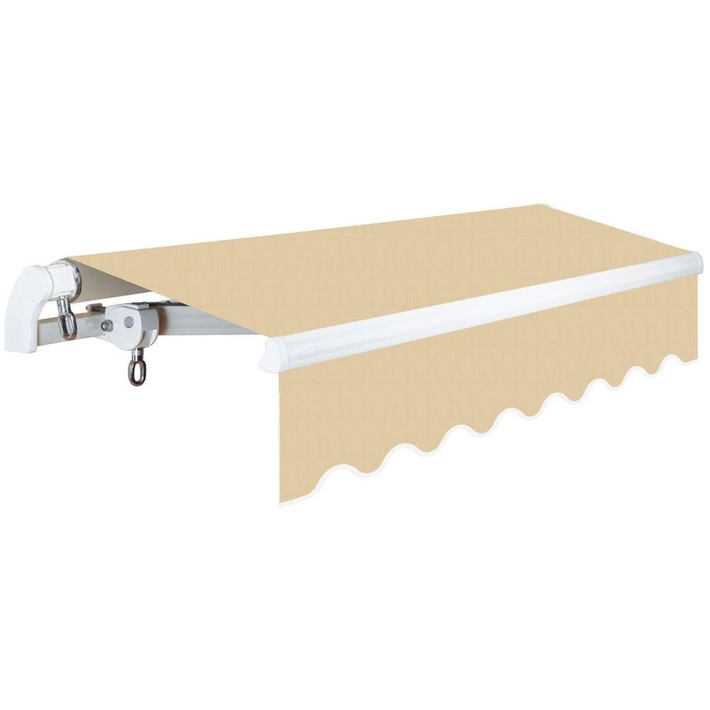 finest selection e8af3 c667c Advaning 14 ft. Slim S Series Light Weight Manual Retractable Patio Awning  (10 ft. Projection) in Linen Beige