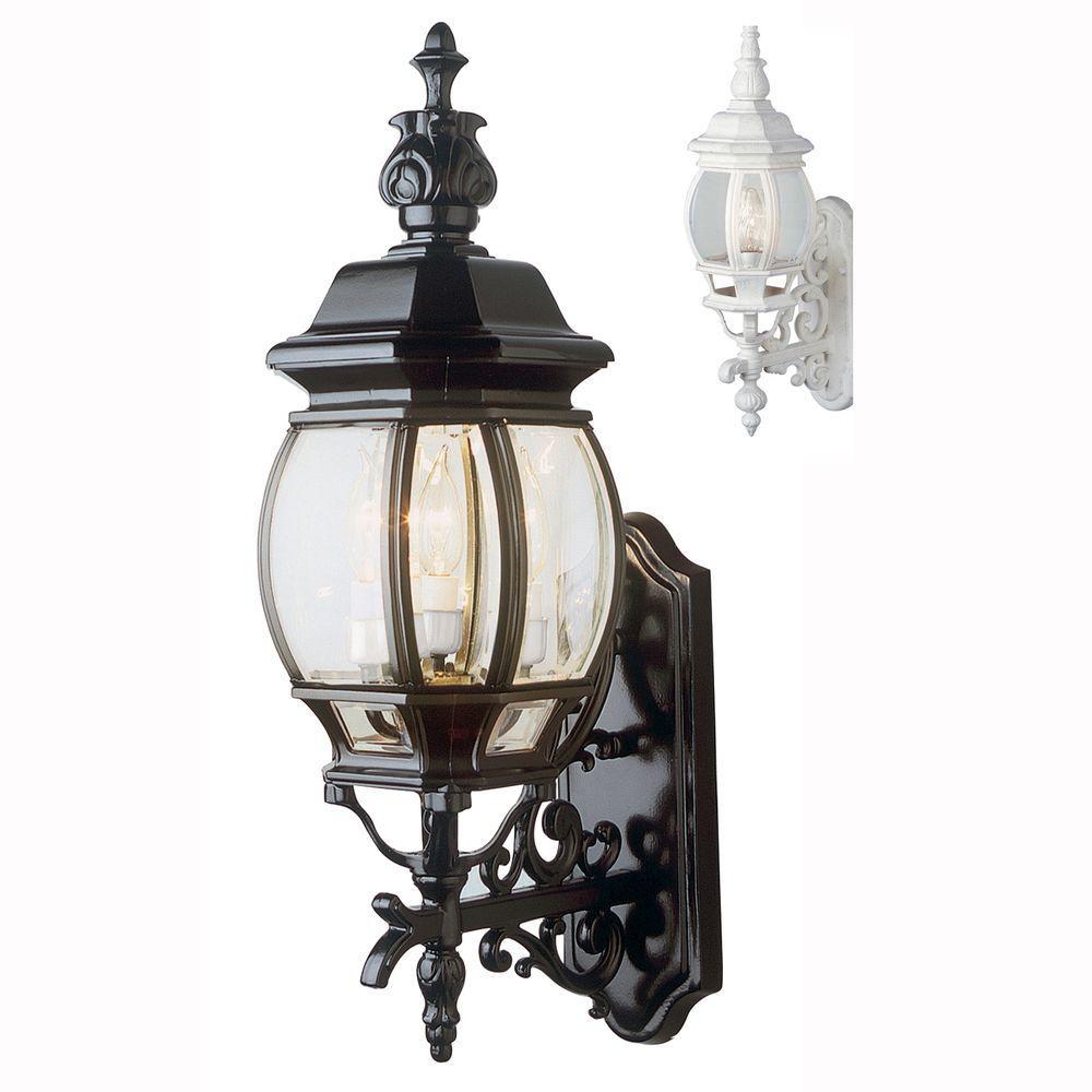 Francisco 3-Light White Outdoor Wall Mount Lantern
