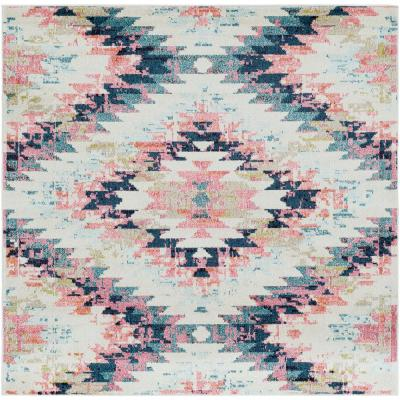 Ariane White 6 ft. 7 in. Square Area Rug