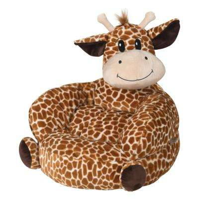 Brown, Tan Children's Plush Giraffe Character Chair