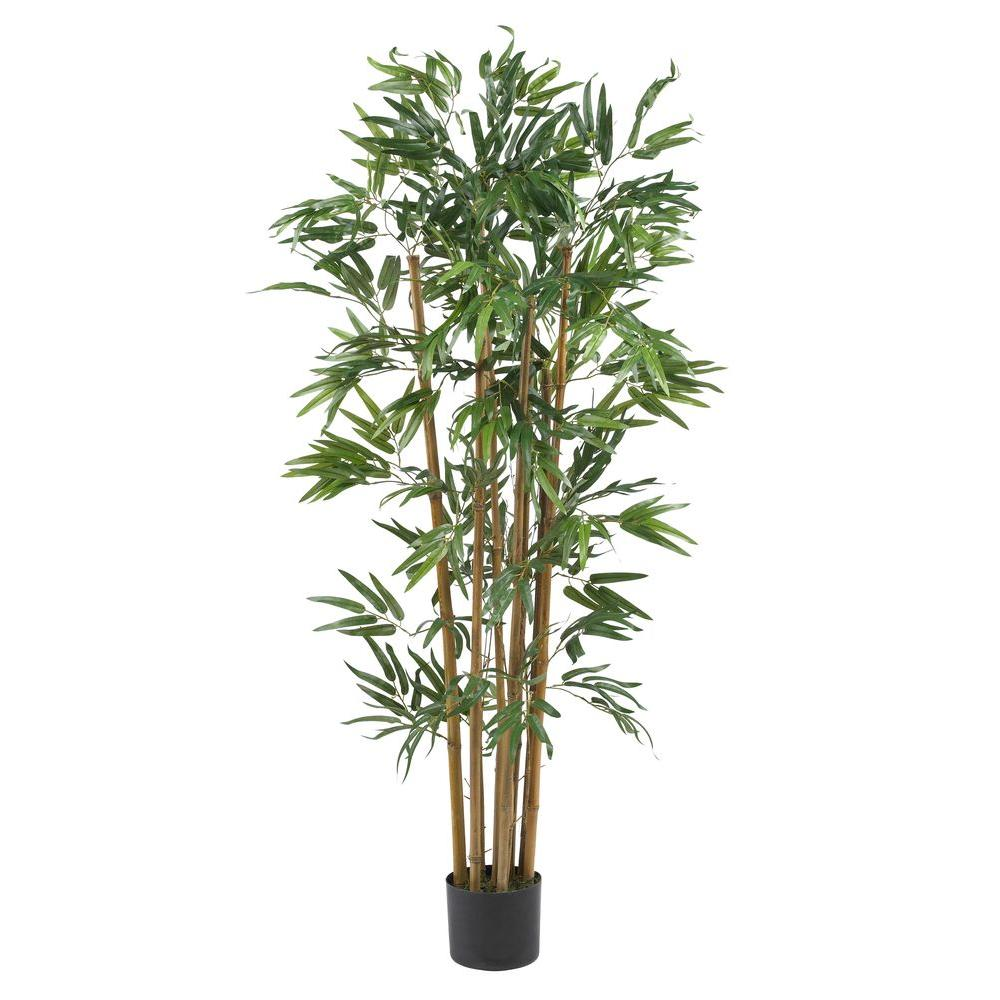 Nearly Natural 6 ft. Silk Bamboo Tree-5190 - The Home Depot