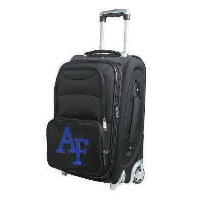 NCAA US Airforce Academy 21 in. Black Carry-On Rolling Softside Suitcase