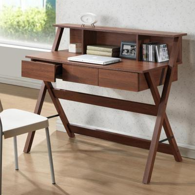 43.2 in. Oak Rectangular 3 -Drawer Writing Desk with Drawers