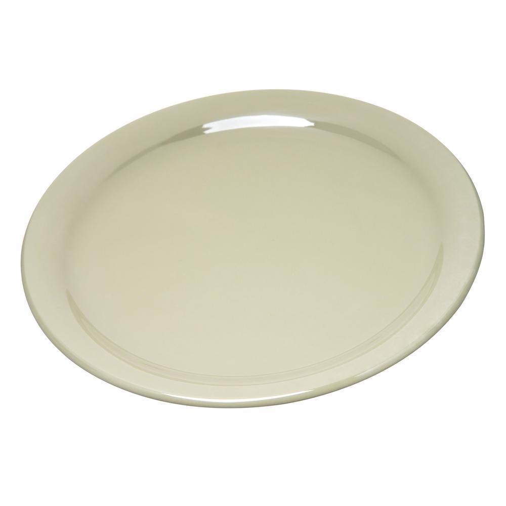 Carlisle Durus 9 in. Firenze Green Melamine Narrow Rim Dinner Plate