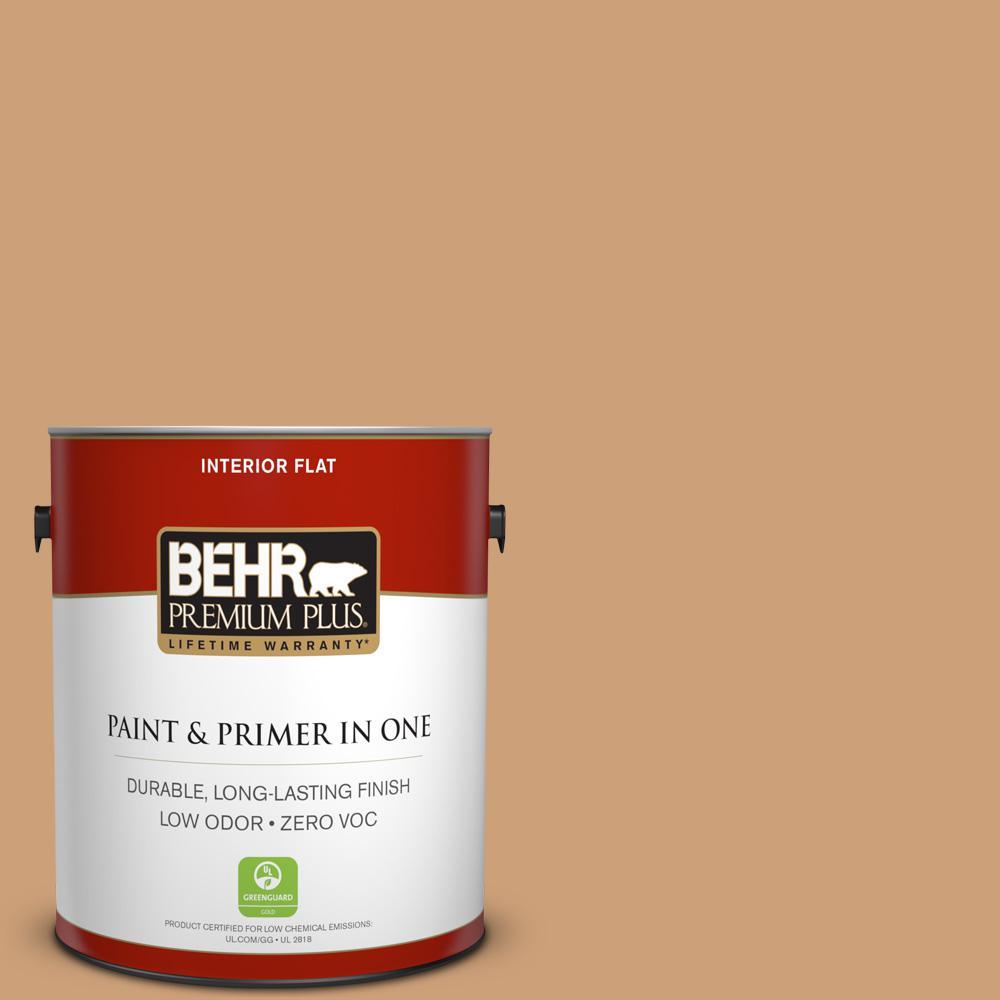 1 gal. #PPU4-16 Kenya Zero VOC Flat Interior Paint