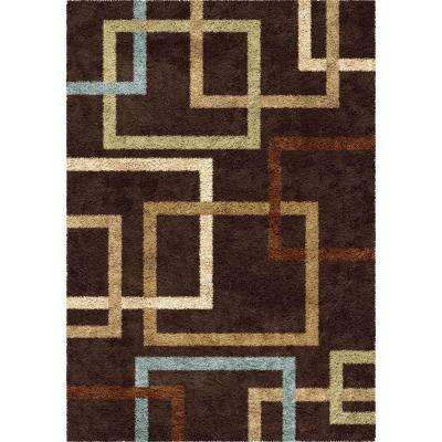 Linked-In Mocha 7 ft. 10 in. x 10 ft. 10 in. Indoor Area Rug