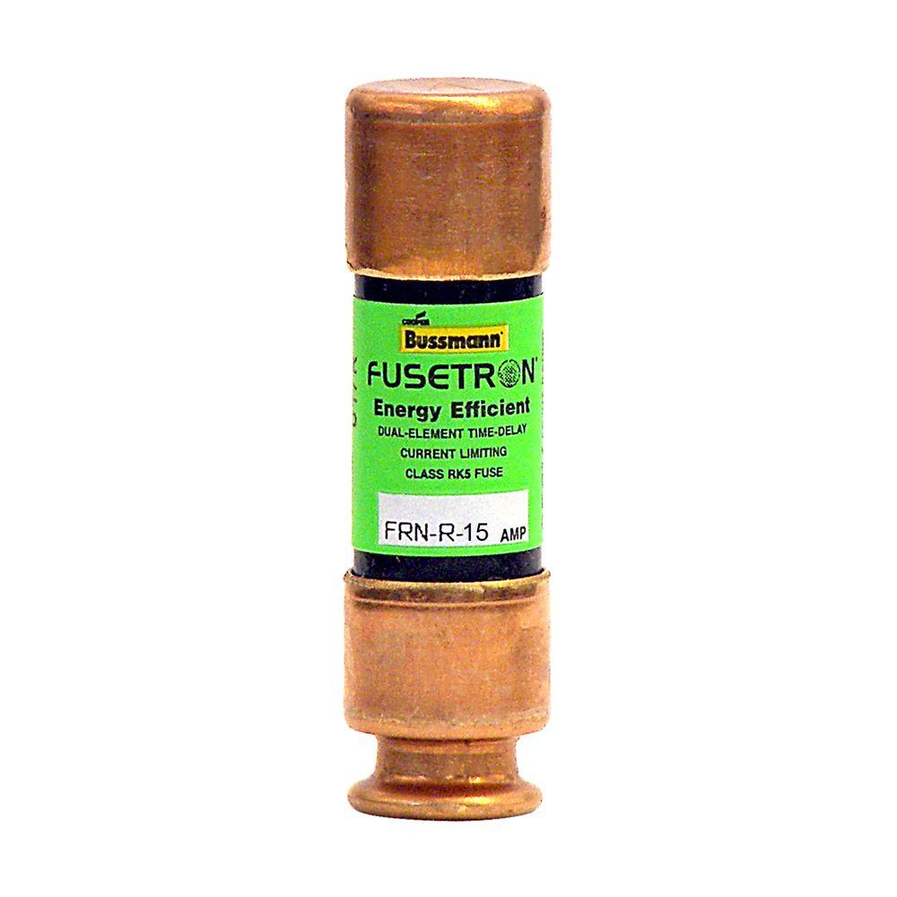 FRN Series Brass 15 Amp 250-Volt Fusetron Time Delay Fuse