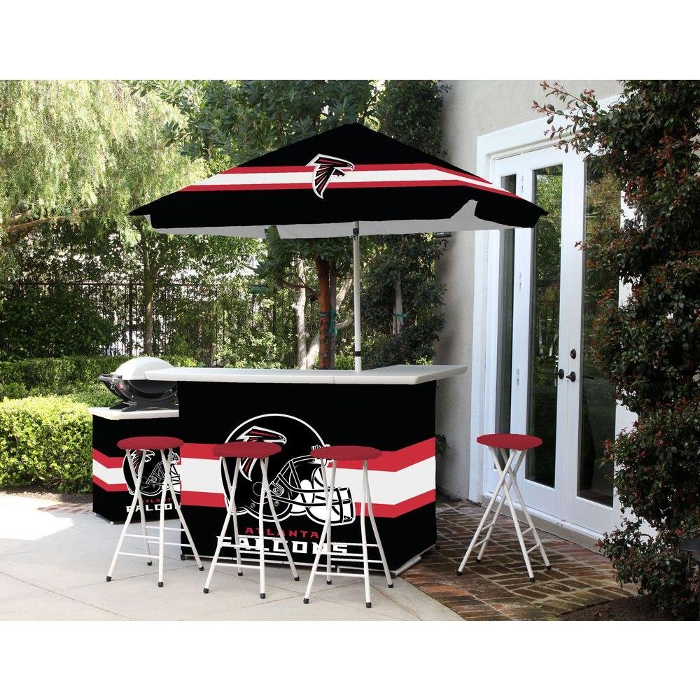 Best Of Times Atlanta Falcons All Weather Patio Bar Set With 6 Ft. Umbrella
