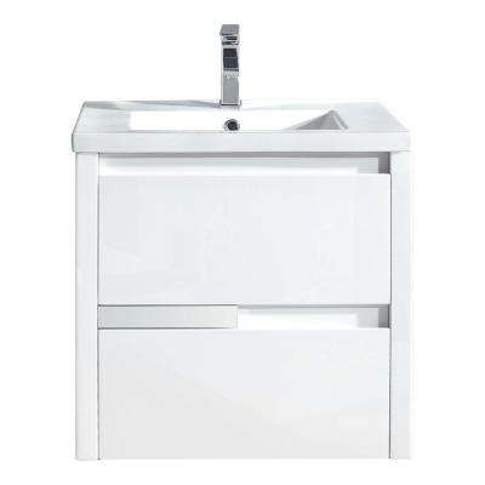Cesarino 24 in. W x 20 in. D Vanity in White with Ceramic Vanity Top in White with Integrated White Basin