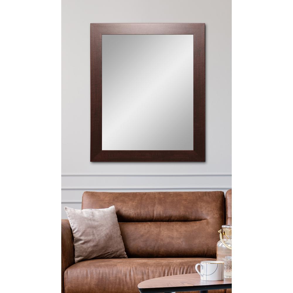 Modern Walnut Framed Mirror