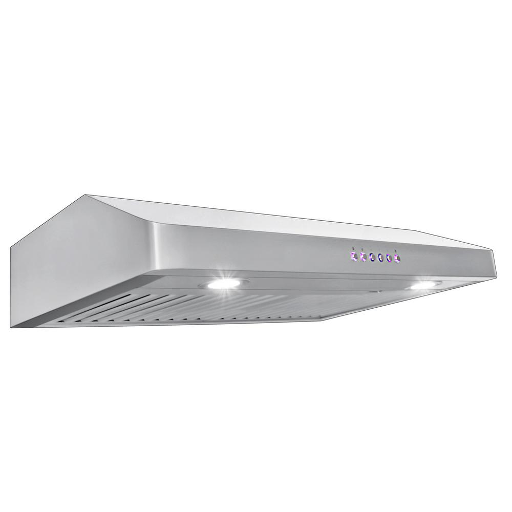 Proline Range Hoods 30 In 600 Cfm Under Cabinet Hood With Light Stainless Steel