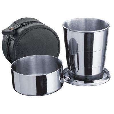 Hubble Stainless Steel Telescopic Shot Cup with Leather Carrying Case