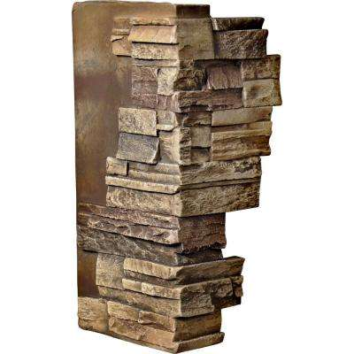 1-1/2 in. x 12 in. x 25 in. Limestone Urethane Dry Stack Stone Outer Corner Wall Panel