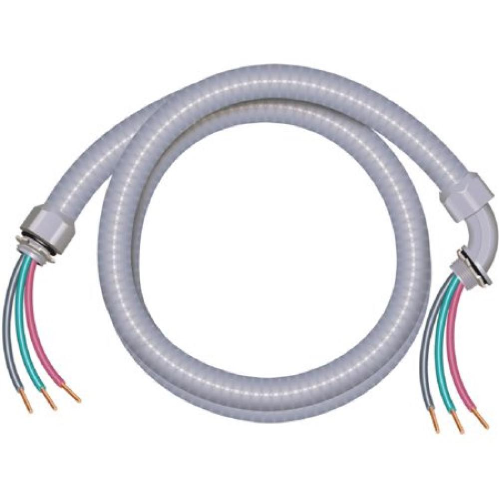southwire 3 4 in x 6 ft 8 2 ultra whip liquidtight flexible non metallic pvc conduit cable whip  conduit wiring an ac disconnect #14