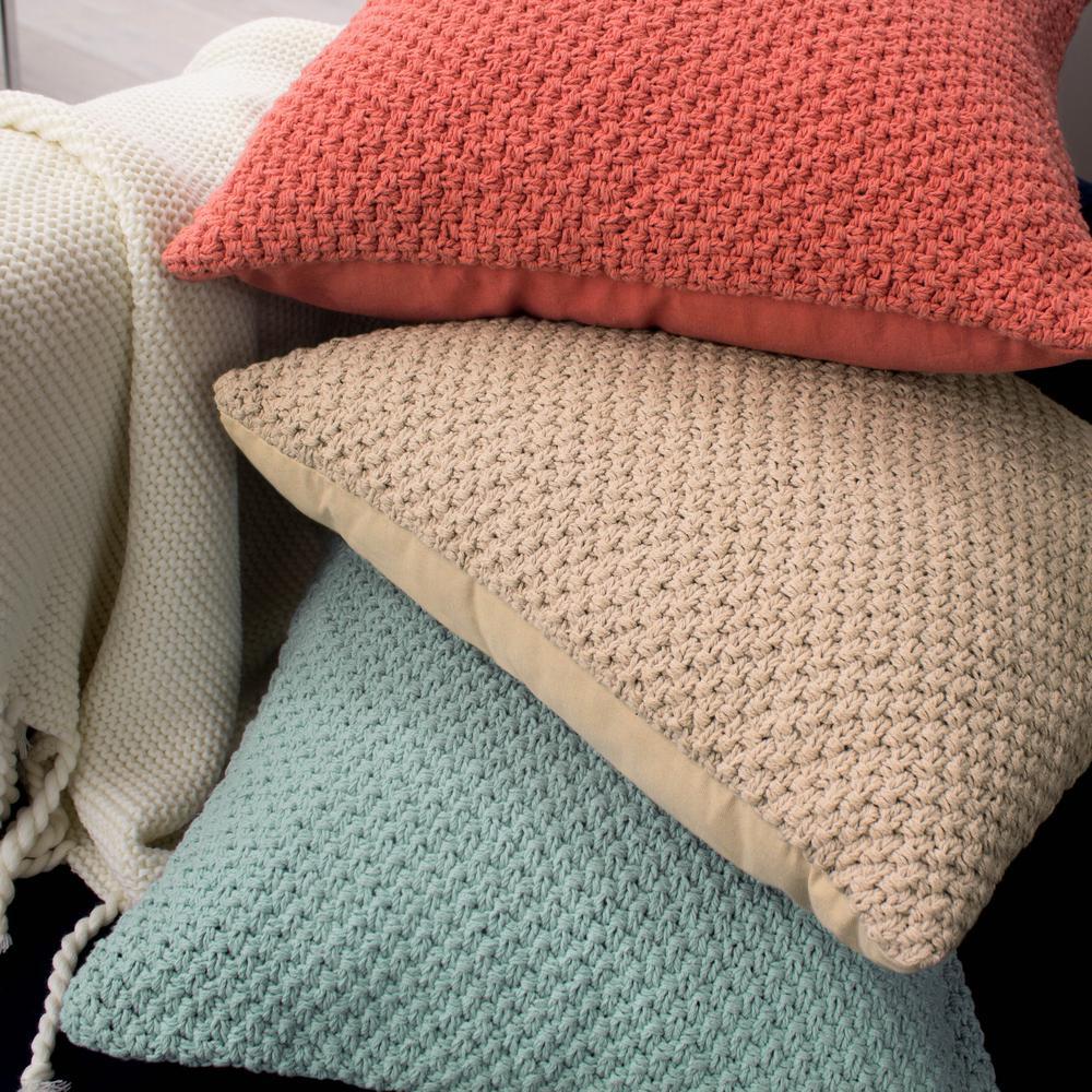 Kelsey Decorative Pillow in Aqua