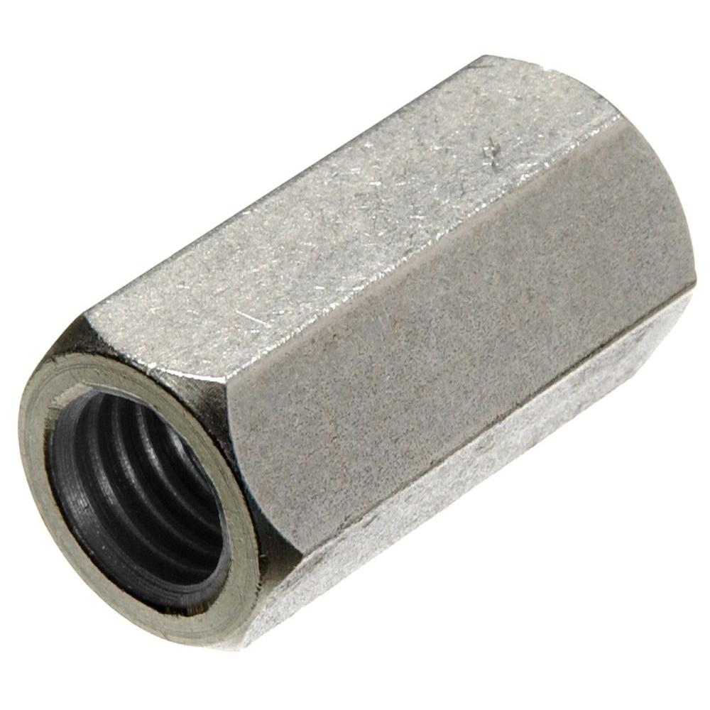 The Hillman Group 5/8 in. x 11 in. Stainless-Steel Coupling Nut (2-Pack)