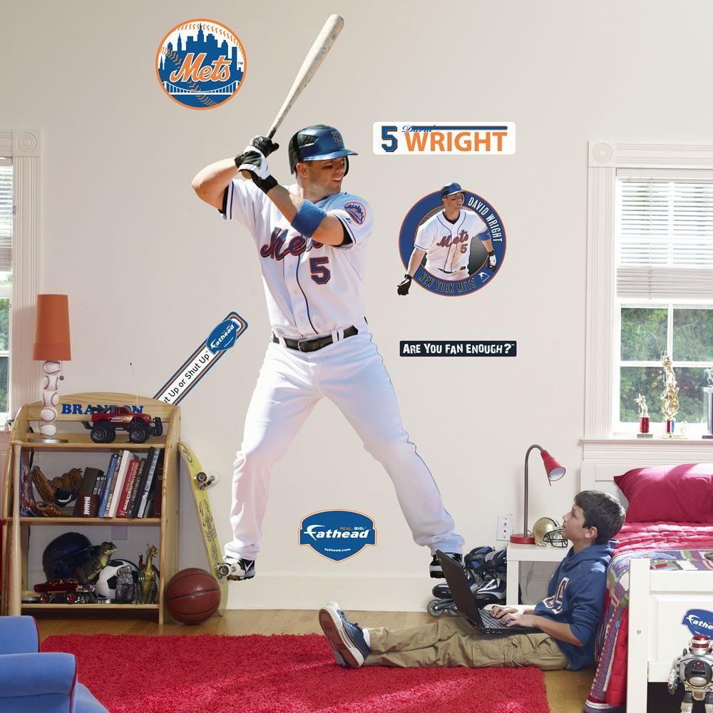 Fathead 42 in. x 92 in. David Wright New York Mets Wall Decal