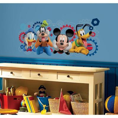 5 in. x 19 in. Mickey & Friends - Mickey Mouse Clubhouse Capers Peel and Stick Giant Wall Decal