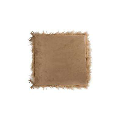 Laredo Tan Faux Sheepskin Fur Chair Pad (Set Of 2)