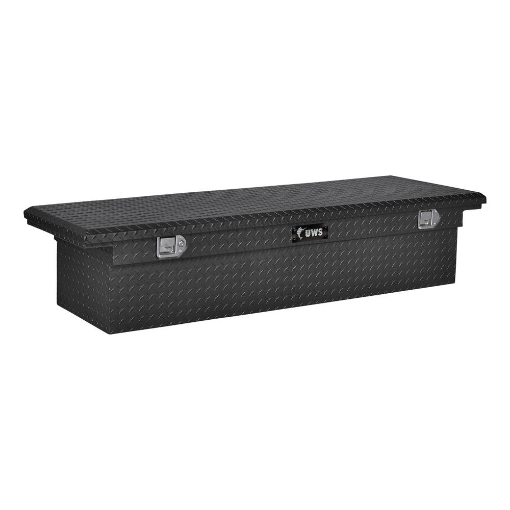 UWS 77.00 in Matte Black Aluminum Low Profile Crossbed Truck Tool Box-EC10603