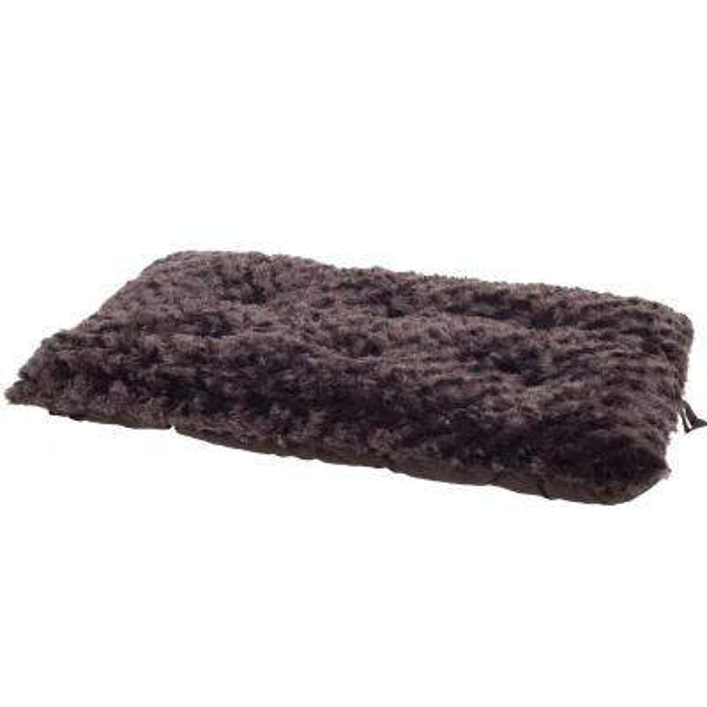 Lavish Cushion Small Chocolate Pillow Furry Pet Bed